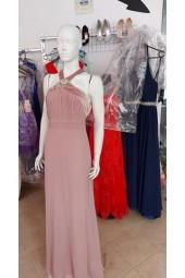 официална рокля с бижу в пепел от рози
