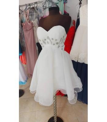къса сватбена  бална рокля с мъниста
