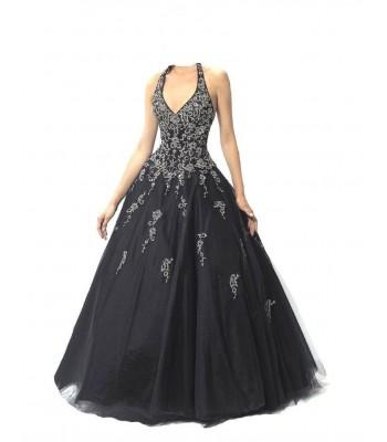 бална рокля с обем в готик стил 2 гами