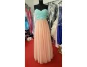официална рокля с Palaz Styling дизайн в корал и мента 2018