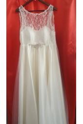 луксозна рокля с разкроена пола в цвят и размер по поръчка