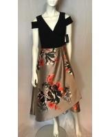 официална рокля подходяща и за майка на булката с флорален мотив