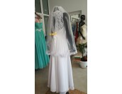 бюджетна сватбена рокля с дантела и вграден сутиен Благоевград