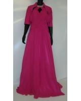 луксозна абитуриентска рокля в розово с болеро