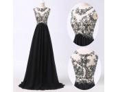 интересна бална рокля в микс от черно и бяло