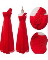 класическа бална рокля в червено