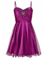официална сияеща рокля с тънки презрамки
