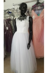 луксозна сватбена булчинска рокля със сияеща дантела