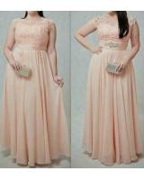 красива бална рокля в 2 варианта и макси размери
