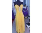 бална рокля в горчица сезон 2020 абитуриентски рокли Благоевград