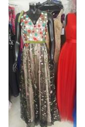 приказна бална рокля с 3D декорация Бални Рокли Благоевград 2020