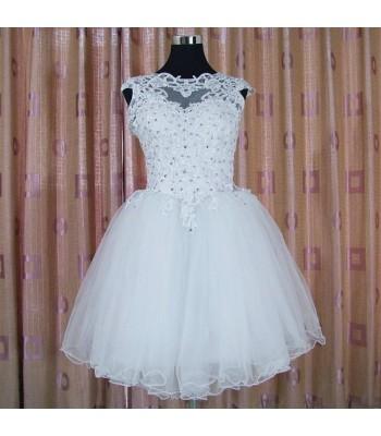 къса официална рокля с дантела  2019