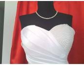 сатенена сватбена рокля Palaz Styling високо качество обсипана с перли