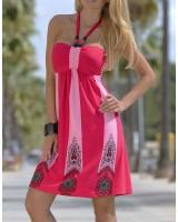 ежедневна рокля в бонбонена гама и макси размери