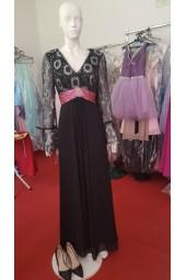 официална рокля с дълги ръкави и красиви маншети