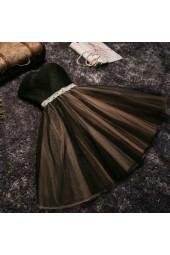 къси бални рокли с много обем и сияещо коланче в 3 гами