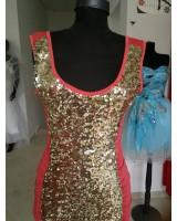 къса сияеща вечерна абитуриентска рокля S