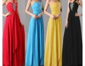 романтична бална рокля с едно рамо в 4 гами с деко кристали