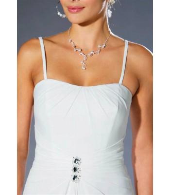 луксозна бутикова рокля в слонова кост високо качество в мини размери
