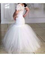 детска булчинска шаферска рокля от дантела и тюл
