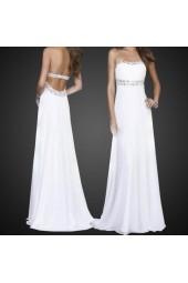 изгодна рокля с гол гръб и деко камъни