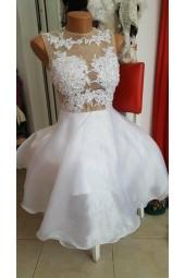 къса сватбена или официална рокля подходяща и за подписване
