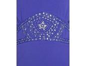 бутикова дамска блуза с богата декорация в лилаво