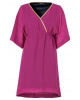 изискана рокля туника тип кимоно в тъмна лила