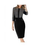 бизнес рокля с ципове