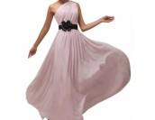 официална шаферска вечерна рокля с декорация в пепел от рози