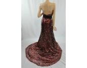 бутикова маркова богато орнаментирана бална рокля 2014 във вишна