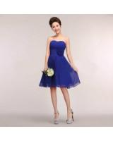 официална рокля на връзки в кралско синьо