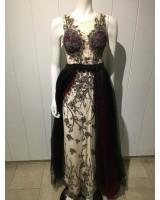 неповторима 3D бална рокля в микс от цветове