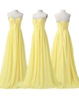 слънчогледова рокля от шифон подходяща за всеки официален случай