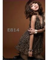 дамска рокля туника в леопардов мотив