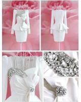 елегантна вечерна сватбена бизнес рокля костюм имитация