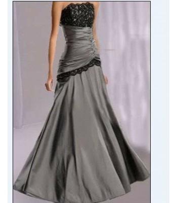 изгодна бална рокля в сив металик мин и макс размери