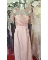официална рокля с ръкави и дантела по поръчка