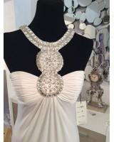 екстравагантна бална сватбена рокля с огърлица лимитирана серия