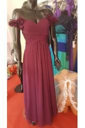 официална рокля с падащи размене в изискана гама