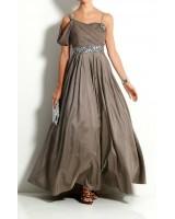бутикова бална рокля в цвят капучино