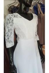 булчинска рокля от шифон и дантела по поръчка Благоевград сватбени рокли 2020