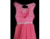 къса бална рокля на корда с камъчета и дантела в много цветове
