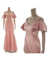 модерна официална рокля с падащи рамене в пепел от рози