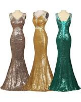 луксозни рокли тип русалка в 3 цвята с ултра блясък от пайети