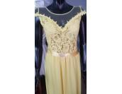 дълга официална рокля в слънчогледово жълто