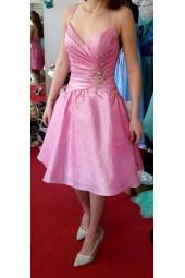 официална бална рокля с тънки презрамки и собствен обем колекция 2019