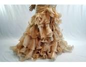 асиметрична бална рокля в шампанско тип салса