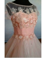 ултра обемна и богато декорирана бална рокля на цветя 2019