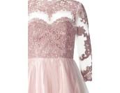 луксозна официална рокля в пепел от рози